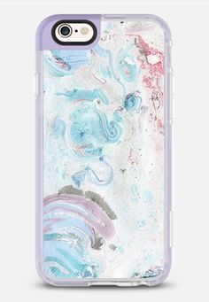 Vintage pastel pink teal chic stylish marble iPhone 6s Case by Pink Water…