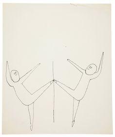 Sprite Acrobats, Andy Warhol 1956