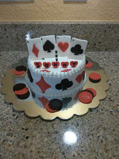 Poker Birthday Cake!! 10-25-14