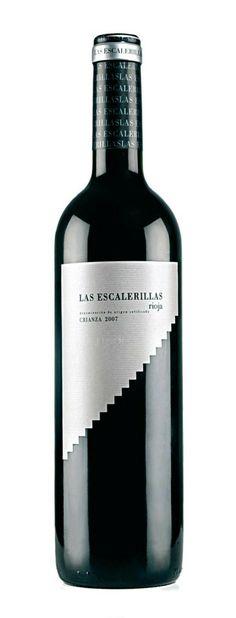 Wine Labels - Las Escalera Rioja #cBlack #cGreys