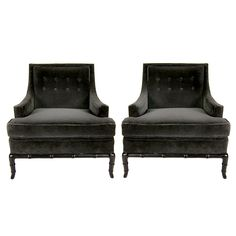 Pair of club chairs by T.H. Robsjohn-Gibbings. Via 1st Dibs. Would love one of these in my bedroom