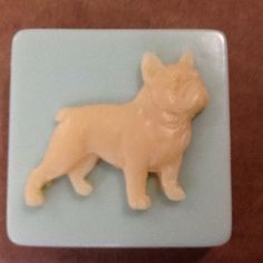 This listing is for ONE bar of soap- please make sure to choose your options at check out. Convo me if you have any questions ! This Frenchie