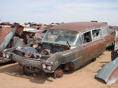 1964 Cadillac Hearse in Junkyard