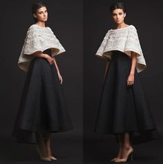 Krikor Jabotian 2016 collection,love the two pieces style looks amazing Fancy Wedding Dresses, Elegant Dresses, Beautiful Dresses, Modern Filipiniana Gown, Two Piece Evening Dresses, Evening Gowns, Hijab Dress Party, Classy Outfits, Party Wear