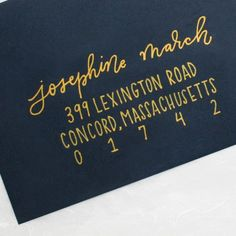 Modern calligraphy envelope addressing for weddings, birthday parties, baby showers, bridal showers and more.