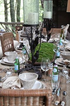 Porch Table Setting, Cashiers Show House 2011