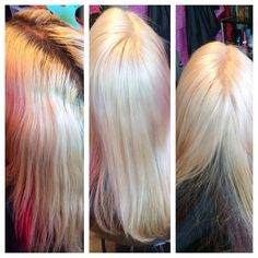 Root touch up! Bleach and some toner dose amazing things!#hair#kayshairr