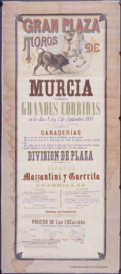 Grandes corridas. Plaza de toros de Murcia — Dibujos, grabados y fotografías — 1889