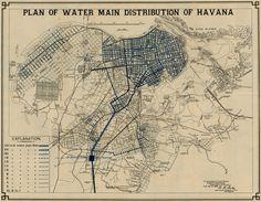 Havana Water Main Distribution Plan 1899