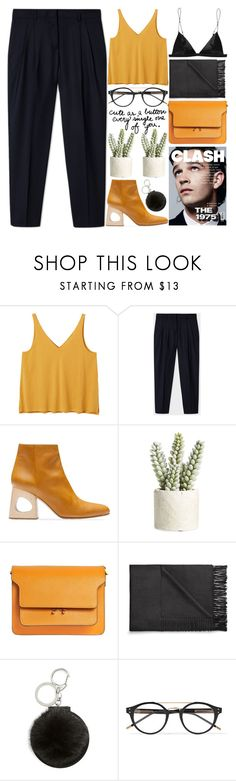 """""""cute as a button"""" by evangeline-lily ❤ liked on Polyvore featuring Monki, Marni, Allstate Floral, Acne Studios, Topshop and Bottega Veneta"""