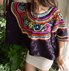 Vintage Mexican Embroidered Huipil.  By Prism Of Threads on Etsy.