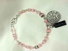Pink Lotus Anklet by JewelsZevnik on Etsy, $10.99