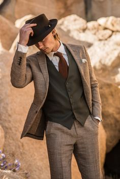 Olive worsted wool waistcoat:Articles of Style: Custom Bespoke Menswear Made in America