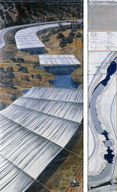 Christo, Over The River (Project for Arkansas River, State of Colorado)  Project canceled in protest to Trump presidency.