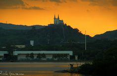Por do Sol e a Igreja da Penha - Rio de Janeiro