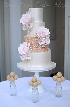 Metallic rose gold lustre and blush wedding.