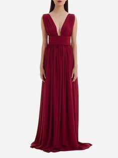 BURGUNDY LONG DRESS | KAOA
