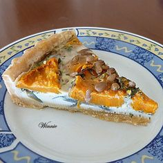 Quiche red onion and sweet potato