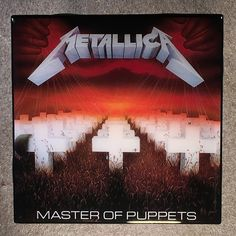 *METALLICA Master Of Puppets Coaster Record Cover Ceramic Tile