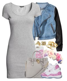 """Untitled #1344"" by power-beauty ❤ liked on Polyvore featuring H&M and Michael Kors"