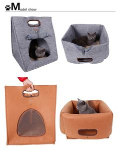 DogLemi Dog Cat Puppy Pet Traveling Carrier Bag Bed House Portable  Multifunctional Nest Outdoor Felt Walking 7cbaceb2fdfe6