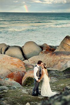 Wedding at Bay of Fires Lodge, Bay of Fires. #bayoffires #weddings #tasmania Image Credit: Jennifer Skabo Photography