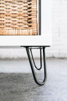 "6"" Hairpin Legs (Satin Black) ▫ Industrial Strength ▫ Mid Century Modern ▫ Set of 4 Table Legs - - Amazon.com"