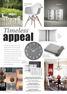 Timeless appeal ~ Cool white and chrome. Tallboy Chest Of Drawers, Farnham Surrey, Snug, Contrast, Chrome, Product Launch, Home And Garden, Cushions, Gardens