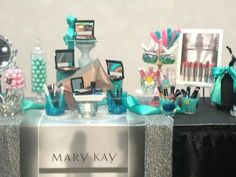 Mary Kay Holiday set up! Join me this November for our Christmas Holiday Open House!