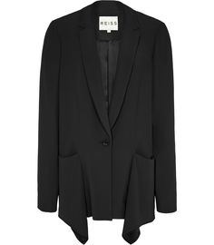 Reiss Lissy Jacket, Garment, Inspiration, SDC, Notch Lapel, Handkerchief Draped Pockets, Centre Back Pleat