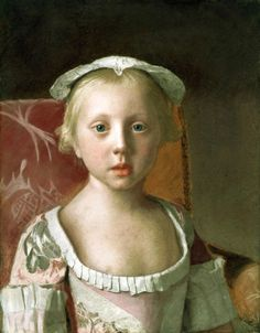 Jean-Étienne Liotard (Swiss-French painter, art connoisseur and dealer) 1702 - 1789, Portrait of Princess Louisa of Great Britain, 1754, pastel on vellum, 40 × 30.5 cm. (15.7 × 12 in.), Royal Collection of the United Kingdom