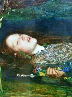 "nolollygagging: ""Ophelia (Detail, 1852) by John Everett Millais """