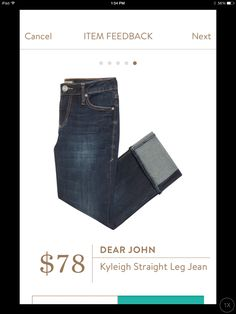 Dear john Kyleigh straight leg jeans. I love Stitch Fix! A personalized styling service and it's amazing!! Simply fill out a style profile with sizing and preferences. Then your very own stylist selects 5 pieces to send to you to try out at home. Keep what you love and return what you don't. Only a $20 fee which is also applied to anything you keep. Plus, if you keep all 5 pieces you get 25% off! Free shipping both ways. Schedule your first fix using the link below! #stitchfix @stitchfix…