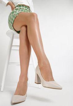 Pantofi cu toc Damisa Bej