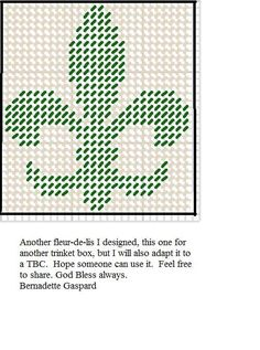 needlepoint fleur de lis pattern - Google Search Plastic Canvas Coasters, Plastic Canvas Crafts, Plastic Canvas Patterns, Knitting Charts, Knitting Stitches, Mosaico Lego, Cross Stitch Embroidery, Cross Stitch Patterns, Mardi Gras