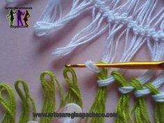 Blusas coloridas de crochê de grampo