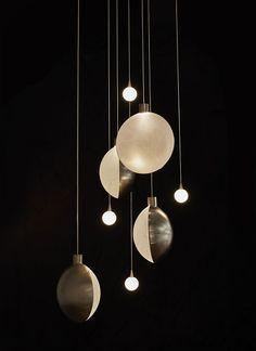 The Best of Maison & Objet Moon and Satellite Suspensions, Éric de Dormael (DCW) Ceiling Pendant, Pendant Lighting, Ceiling Lights, Pendant Lamps, Lighting Concepts, Lighting Design, Lighting Ideas, Luxury Lighting, Modern Lighting
