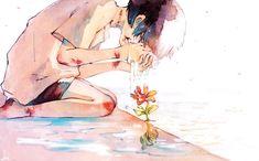Manga Girl, Anime Art Girl, Anime Guys, Pretty Art, Cute Art, Nostalgia Art, Sad Art, Arte Horror, Beautiful Anime Girl