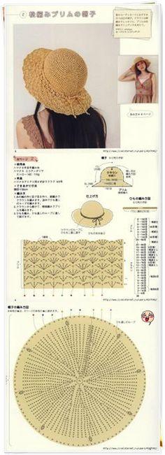 손뜨개도안 여름모자 만들어 볼까요? : 네이버 블로그