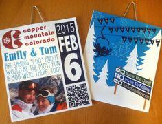Ski Lift Ticket Invite/SavetheDate for by BonVivantPrinting, $30.00