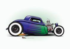 (2) The CARtoon Speed Shop Rat Fink, Chevrolet Bel Air, Dodge Charger, Rolls Royce, Ford Modelo T, Hot Rods, Cool Car Drawings, Kart, Garage Art