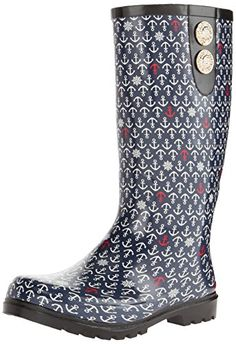 Nomad Footwear Women's Puddles II Rain Boot, Navy Anchors, 8 M US Nomad http://smile.amazon.com/dp/B00OPFXYJK/ref=cm_sw_r_pi_dp_RC65vb1XRDZBF