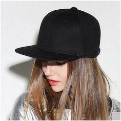 Plain black snapback cap for women hip hop baseball caps