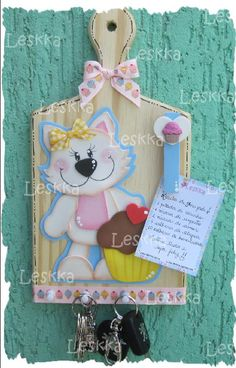 Porta llaves en fomi - Imagui Kids Crafts, Foam Crafts, Crafts To Sell, Diy And Crafts, Country Paintings, Mothers Day Crafts, Flower Making, Kids Decor, Paper Piecing