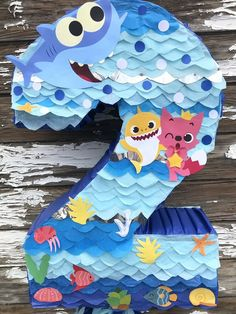 "Baby Shark Number Two Piñata.16""X26""  