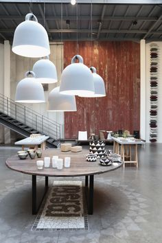 Merci in Paris for industrial chic furniture, kitchen & tablewares, and interesting lighting