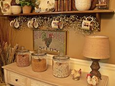 Country Rooster Kitchen Decor | Found on picketsplace.blogspot.com