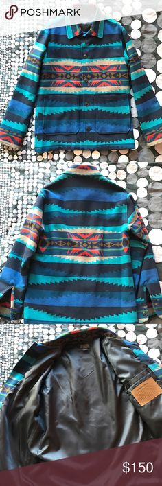 Pendelton Aztec Summer Wool Shirt Jacket Overcoat New, no tags.  100% Excellent condition.  Men's S but fits like an M.  Bid with confidence! pendelton Jackets & Coats Lightweight & Shirt Jackets
