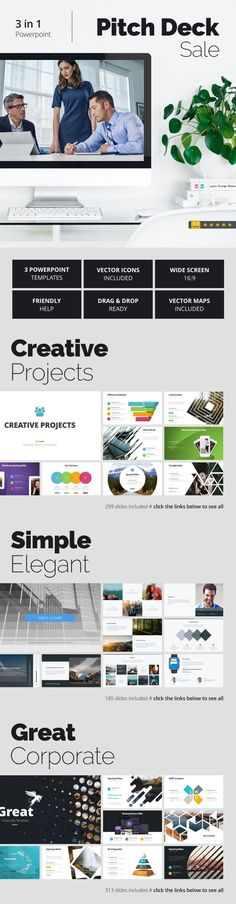 918 best powerpoint templates images on pinterest keynote template pitch deck sale toneelgroepblik Image collections