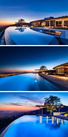 Swimming pool inspiration from a home in California that has amazing views!